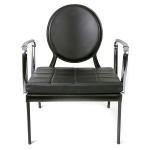 design fauteuil Kelke zwart chroom