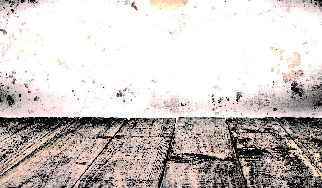 Wit met houten inrichting