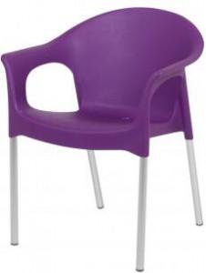 Terras design stoel paars