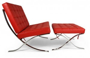 Barcelona Chair & Hocker