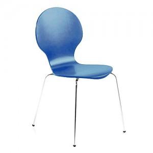 Vlinderstoel naar Arne Jabosen blauw chroom goedkoop