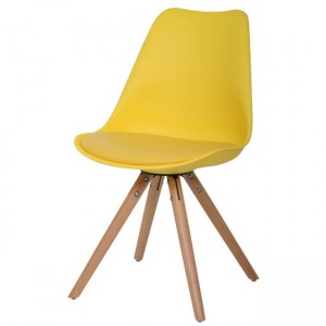 Designstoel vintage nieuw geel