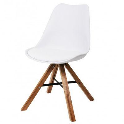 Witte stoelen hout