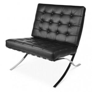 barcelona stoel zwart chroom