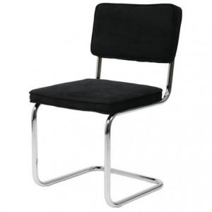 Rib Chair Gispen chroom slede ribstof