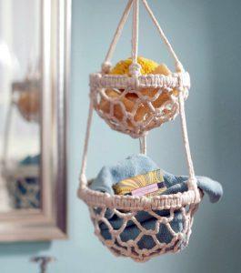 hanging basket zelf maken in macramé