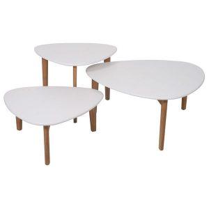 designtafel prima betaalbaar wit hout