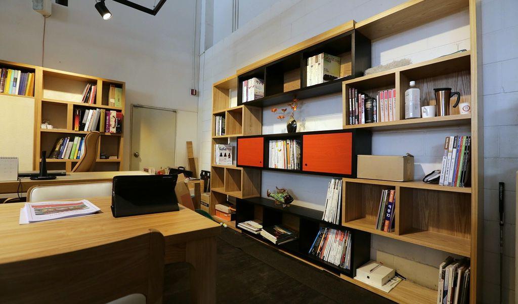 werkplek interieur kantoor hout