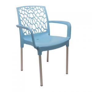 terrasstoel postiga lichtblauw