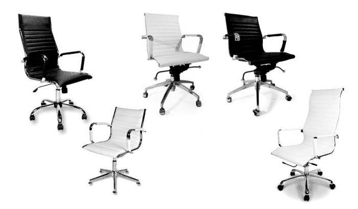 goede dgoedkope design bureaustoelen wit zwart leer chroom